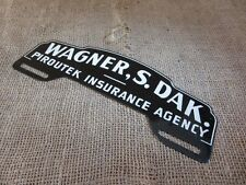 Vintage South Dakota Insurance License Plate Tag Sign Reflector Antique NOS 6796