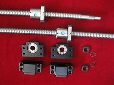 2 CNC anti backlash 25mm ballscrew RM2505-473/727mm-c7+2 set BK/BF15 end bearing