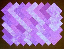 """PURPLE Prints 4"""" Squares, 100% cotton Prewashed, Quilt Block Fabric  (#A/7E)"""