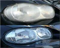 HEADLIGHT & PLASTIC LENS COVER CLEANER RESTORER & POLISH FOR CAR VAN HGV VEHICLE