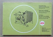 IFA  Dieselmotor VD 13,5/12,5-1 SRF Ersatzteilliste Fortschritt E 524 Original