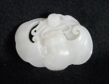 Well  Hand  Carved  Chinese  He-Tian  White  Jade  Pendant      M1627