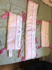 Crib Bumper Pad Girl Fao Schwartz Pink