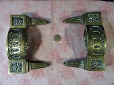 2 anciens éléments en bronze de meuble XVIIIé porte Louis XVI