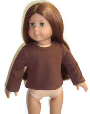Doll Clothes for 18 inch American Girl - Long Sleeved Brown Knit Top Shirt