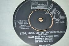 """DIANA ROSS  AND MARVIN GAYE    STOP, LOOK , LISTEN      7"""" SINGLE   MOTOWN"""