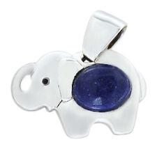 Anhänger Elefant Silber 925 Lapis Lazuli Cabochon Glücksbringer Kettenanhänger