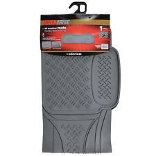 Rubber Liner Floor Mat Utility Rear Runner - Odorless MOTORTREND - Gray