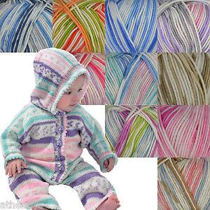 King Cole Cherish DK 100% Acrylic Self Patterning Knitting Yarn 100g Balls