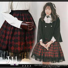 british Lolita princess diary toy soldier check print tulle skirt【JHU2010】