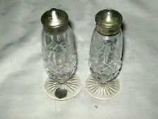 A Vintage Pair of Stuart Crystal Winchester Cut E.P.N.S. Pepper & Salt Shakers