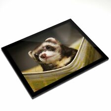 Glass Placemat 20x25 cm - Ferret Hammock Pet Rodent Animal #16329