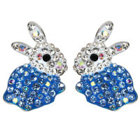 Bunny Stud Crystal Earring Easter Gift Jewelry Party For Women Girl Mother EC08
