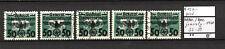 Generalgouvernement 1940 Portomarken von Polen MiNr. 35 - 39 gestempelt