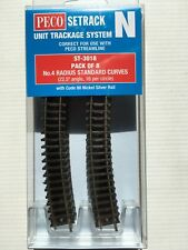 PECO ST-3018 8 x N0.4 Radius (ST18) N Gauge Standard Curve Setrack Code 80 Rail