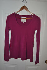NEW PURPLE THIN SWEATER. SIZE MEDIUM. RIBBED LIGHTLY ON TOP HALF, THEN RELAXED