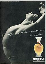 """Publicité Advertising 1981 Parfum """"Femme"""" de Rochas New York city Ballet"""