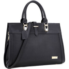 New Women Handbag Faux Leather Satchel Briefcase Tote Bag Medium Purse