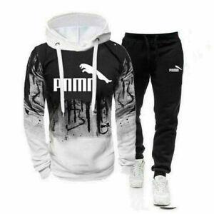 2Pcs Hoodies Mens Tracksuit Set Sweatshirt Pants Bottoms Sport Sets Jogging Suit