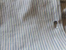Antique Primitive Rustic Farmhouse Soft Blue Ticking Fabric ~ cutter