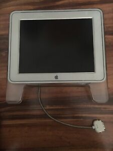 Rare Apple Collectible 2000 Vintage Clear Apple Cube Computer Monitor Screen