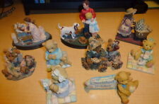 Lot of 8 Norman Rockwell-Boyds Bears-Cherished Teddies -Lizzie High Figurines .