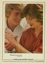1979 Karat Gold Jewelry Bracelet Couple Vintage Color Photo Print Ad