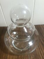 """vintage 6"""" Clear Glass APOTHECARY Jar Squatty"""