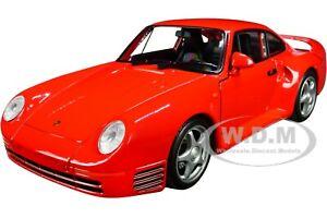"""PORSCHE 959 RED W/SILVER WHEELS """"NEX MODELS"""" 1/24 DIECAST MODEL CAR WELLY 24076"""