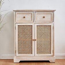 Cherry Tree Furniture REGA Rattan Cane & Paulownia Wood 2-Drawer 2-Door Cabinet