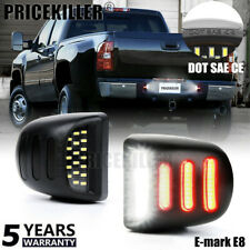 2X White License Plate Light w/ Red Lamp LED SMD for Chevy Silverado GMC 99-13