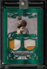 SHAQUILLE O'NEAL 2020 LEAF SUEPRLATIVE GREATNESS GREEN DUAL PATCH #5/6 N2737