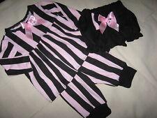Gothic striped leggings Alternative Shower gift set black pink bloomers Rock UK