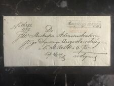 1800s Warsaw Poland Russia Stampless Diplomatic Cover