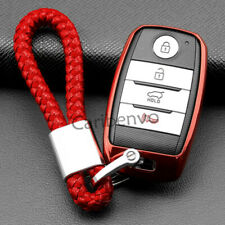 Scarlet Red Soft Car Key Chain For Kia Sportage Optima Sorento Soul Niro Sedona