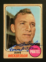 Dave Wickersham Pirates signed 1968 Topps baseball card #288 Auto Autograph 2
