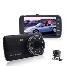 4'' Dual Lens Camera HD 1080P Car DVR Vehicle Video Dash Cam G-Sensor BLACK