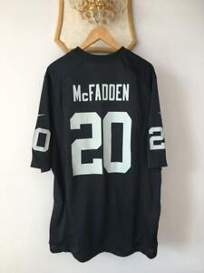 OAKLAND RAIDERS AMERICAN NFL FOOTBALL SHIRT JERSEY NIKE DARREN MCFADDEN #20 MENS