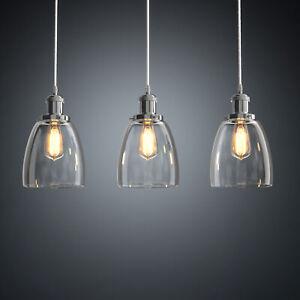Kitchen Pendant Light Bar Lamp Industrial Restaurant Ceiling Lights Glass E27