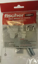 Fischer WST 140 wall mounted basin & pedestal fixing kit. FREE POSTAGE