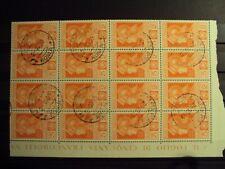 REGNO 1930 USATO FERRUCCI L.5+2 BLOCCO ORIGINALE (L386)