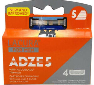 Lacura 5 Blade Razors For Men ADZE 5 with Accublade Trimmer