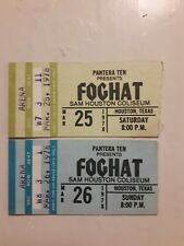 Rare Vintage Foghat Ticket Stub Set Sam Houston Coliseum May 25 1978 May 26 1978