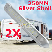 2*12V 250MM LED Awning Light Camping Caravan Motorhome Trailer Truck RV Vehicle