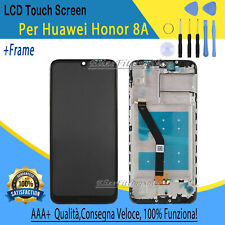PER HUAWEI HONOR 8A JAT-TL00 NERO DISPLAY LCD TOUCH SCHERMO CON FRAME RICAMBIO