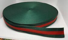 Fine grain 2 metri nastro verde rosso stile GUCCI moda fashion style TOP QUALITY