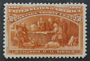 nystamps US Stamp # 239 Mint OG H $240   L30x1382
