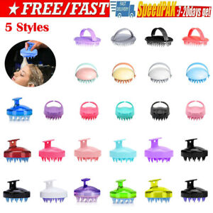 Silicone Shampoo Scalp Shower Body Washing Hair Massage Massager Brush Comb Tool