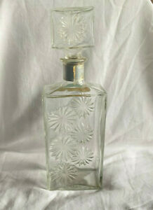 Vintage Four Roses Floral Whiskey Bottle, Decanter, Free Shipping