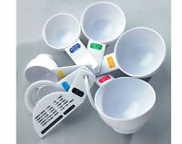 Tala 7pc pieces Plastic Measuring Cups Spoons Kitchen Set Tool for Baking Cook